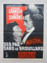 Footsteps in the Fog,Orig French Movie Poster, Stewart Granger, Jean Simmons '55